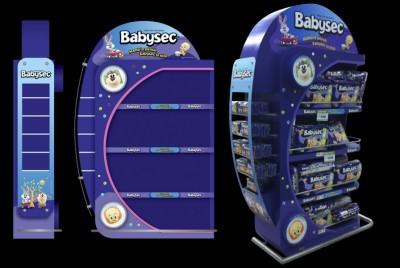 Góndola promocional Babysec | <span>CMPC<span>