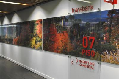Señalética oficinas corporativas | <span>Transbank<span>